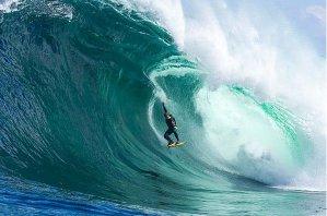 The break at Shipstern Bluff, Tasmania Photo: Rodd Owen/Billabong, AAP